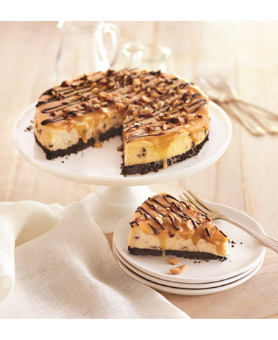 Wolferman's Chocolate Caramel Nut Cheesecake