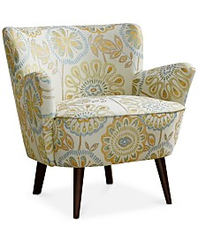 Sylvia Mid Century Accent Chair, Quick Ship