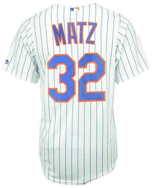 sale retailer c91f0 a7bb3 Men's Steven Matz New York Mets Replica Jersey