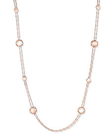 The Fifth Season by Roberto Coin 18k Rose Gold-Plated Sterling Silver Necklace 7771132SX470