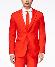 OppoSuits Men's Red Devil Solid Suit