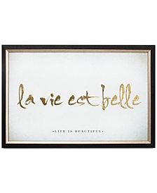 Graham & Brown La Vie Est Belle Metallic Framed Print