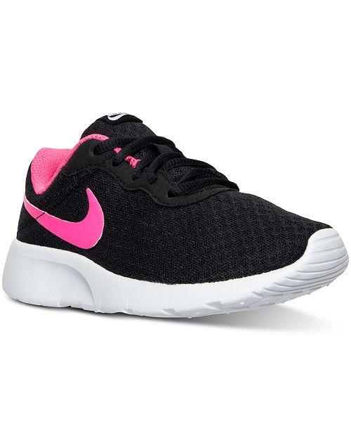 Nike Little Girls' Tanjun Casual Sneakers from Finish Line