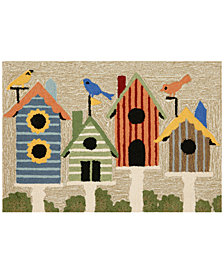 Liora Manne Front Porch Indoor/Outdoor Birdhouses Multi Area Rug