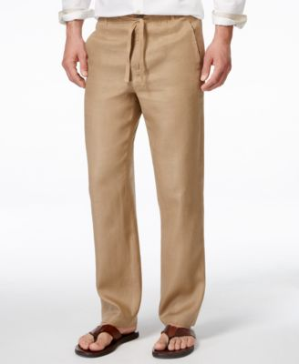 Mens Linen Cotton Pants