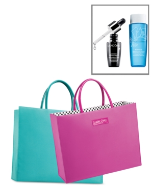 Choose your Free Tote Bag and receive Advanced Genifique and Bi-Facil Eye Makeup Remover $35 Lancome purchase