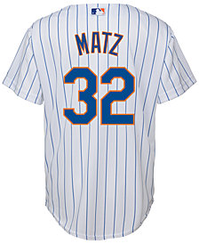 Majestic Steven Matz New York Mets Replica Jersey, Big Boys (8-20)