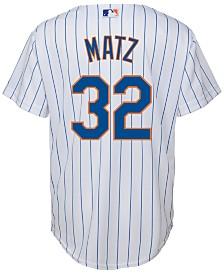 Majestic Steven Matz New York Mets Replica Jersey, Big Boys (8-20)