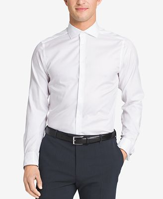 Calvin klein steel men 39 s slim fit non iron performance for French cuff dress shirts for sale