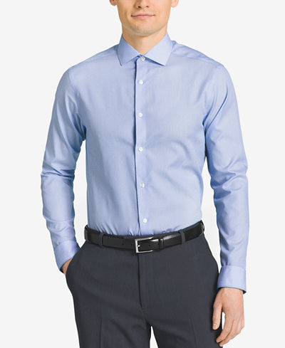 Calvin klein steel slim fit non iron performance fineline for Calvin klein athletic fit dress shirt