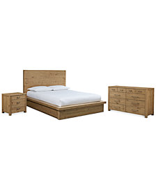 Abilene Storage Platform Bedroom Furniture, 3-Pc. Bedroom Set (King Bed, Dresser & Nightstand), Created for Macy's
