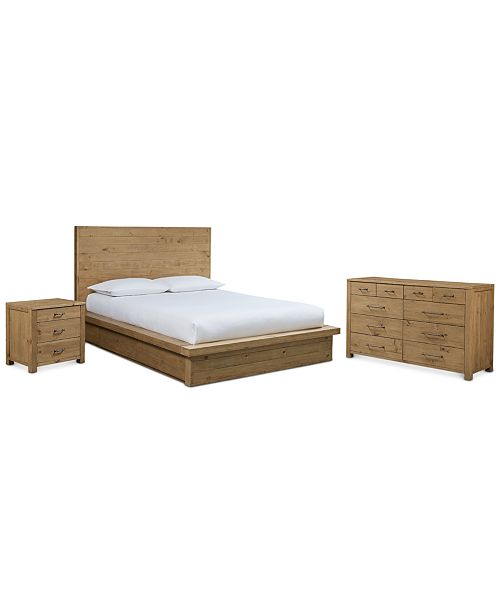 Furniture Abilene Storage Platform Bedroom 3 Pc Set California King