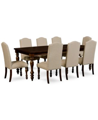 Kelso 9Pc Dining Set Dining Table 8 Side Chairs Furniture