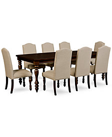 Kelso 9-Pc. Dining Set (Dining Table & 8 Side Chairs)