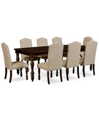 kelso 9 pc  dining set  dining table  u0026 8 side chairs  kelso 9 pc  dining set  dining table  u0026 8 side chairs    furniture      rh   macys com