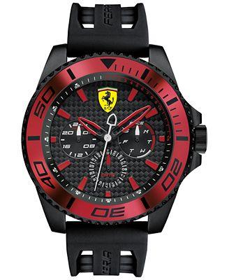 Scuderia Ferrari Men's XX Kers Black Silicone Strap Watch 50mm 0830310