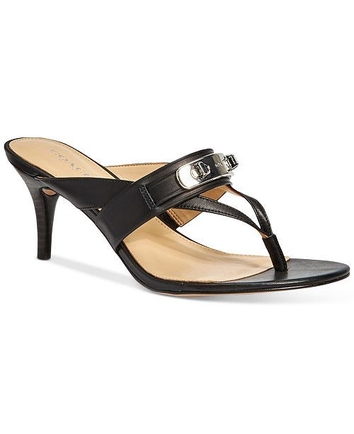 748674064 COACH Olina Turnlock Thong Dress Sandals   Reviews - Sandals ...