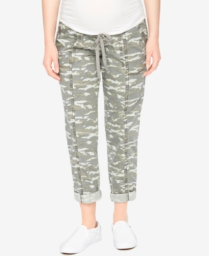 Motherhood Maternity Camo Cropped Pants plus size,  plus size fashion plus size appare