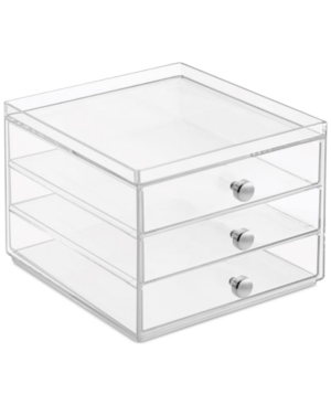 Interdesign Slim 3-Drawer Makeup Organizer, Clear