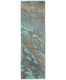 "Oriental Weavers Sedona 6367A 2'3"" x 7'6"" Runner Rug"