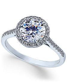 Arabella Swarovski Zirconia Ring in 14k White Gold, Created for Macy's