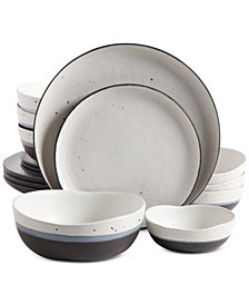 Gibson Elite 16-Pc. Rhinebeck Dinnerware Double Bowl Set