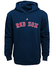 Majestic MLB Worldmark Boston Red Sox Fleece Hoodie, Little Boys (4-7)