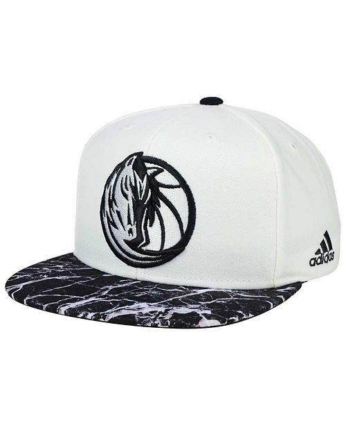 14f68dfabfb adidas Dallas Mavericks White Marble Snapback Cap - Sports Fan Shop ...