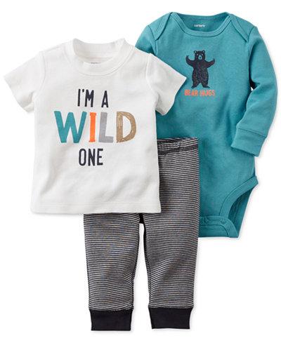 Carter S Baby Boys 3 Pc Little Wild One T Shirt