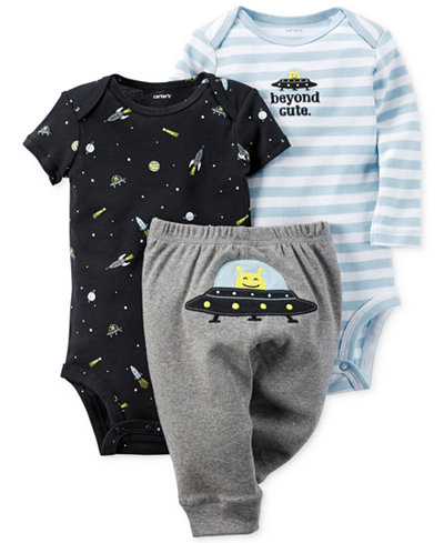 Carter S Baby Boys 3 Pc Space Bodysuits Amp Pants Set
