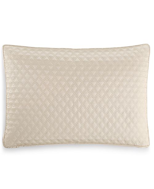 Hotel Collection CLOSEOUT! Dimensions Champagne Quilted Standard Sham, Created for Macy's