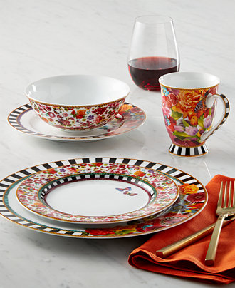 European style casual dinnerware with authentic old world for Calligrapher canape plate