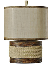 StyleCraft Wood-Tone Table Lamp