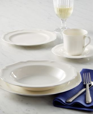 Unique geometric shapes and clean design give this fine china white dinnerware and dishes collection from Mikasa a modern sensibility. & Mikasa Dinnerware Antique White Collection - Dinnerware - Dining ...