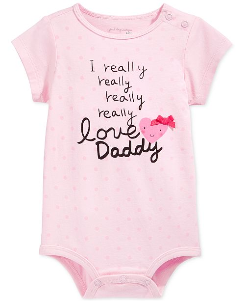 680f70bf7deb First Impressions Baby Girls  Love Daddy Bodysuit
