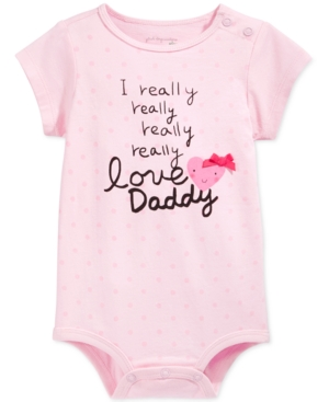 First Impressions Baby Girls Love Daddy Bodysuit Created for Macys