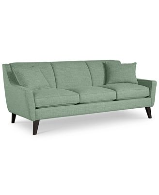jaylen sofa with 2 throw pillows custom colors furniture macy 39 s
