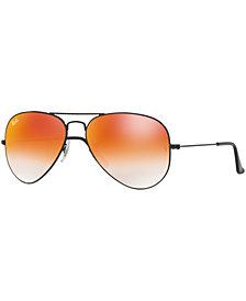 Ray-Ban ORIGINAL AVIATOR GRADIENT MIRRORED Sunglasses, RB3025 62