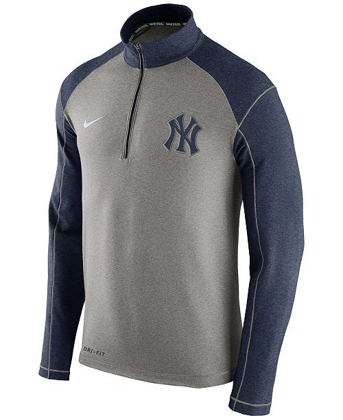 bfaef95d9769 Nike. Men s New York Yankees Dri-FIT Touch Half-Zip Pullover. Be the first  to Write a Review. main image  main image
