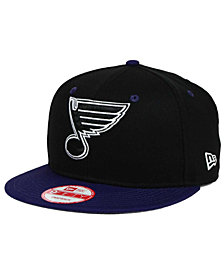 New Era St. Louis Blues Black White Team Color 9FIFTY Snapback Cap