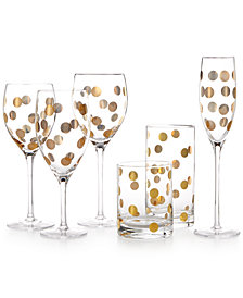 kate spade new york Pearl Place Stem & Barware Collection