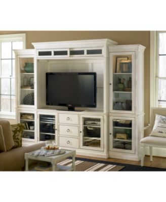 Furniture Sag Harbor White 4 Pc. Wall Unit (2 Bookcases, Entertainment Deck  U0026 Entertainment Console)   Furniture   Macyu0027s