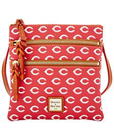Dooney & Bourke Cincinnati Reds Triple Zip Crossbody Bag