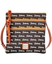 Dooney & Bourke Miami Marlins Triple Zip Crossbody Bag