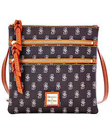 Dooney & Bourke Seattle Mariners Triple Zip Crossbody Bag