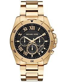 603ec92a47ca Michael Kors Men s Slim Runway Gold-Tone Stainless Steel Bracelet ...