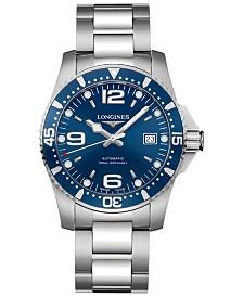 Longines Men's Swiss Automatic HydroConquest Stainless Steel Bracelet Watch 41mm L36424966