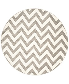 Amherst Indoor/Outdoor AMT419 7' x 7' Round Area Rug