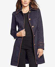 Lauren Ralph Lauren Faux-Leather-Trim Trench Coat