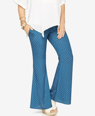 Rachel Zoe Maternity Printed Flared Pants